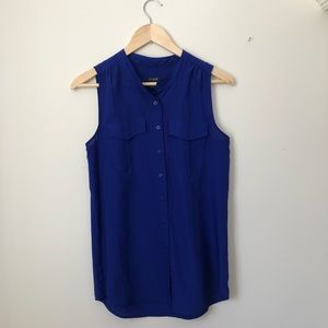 J. CREW sleeveless button-down, size 4